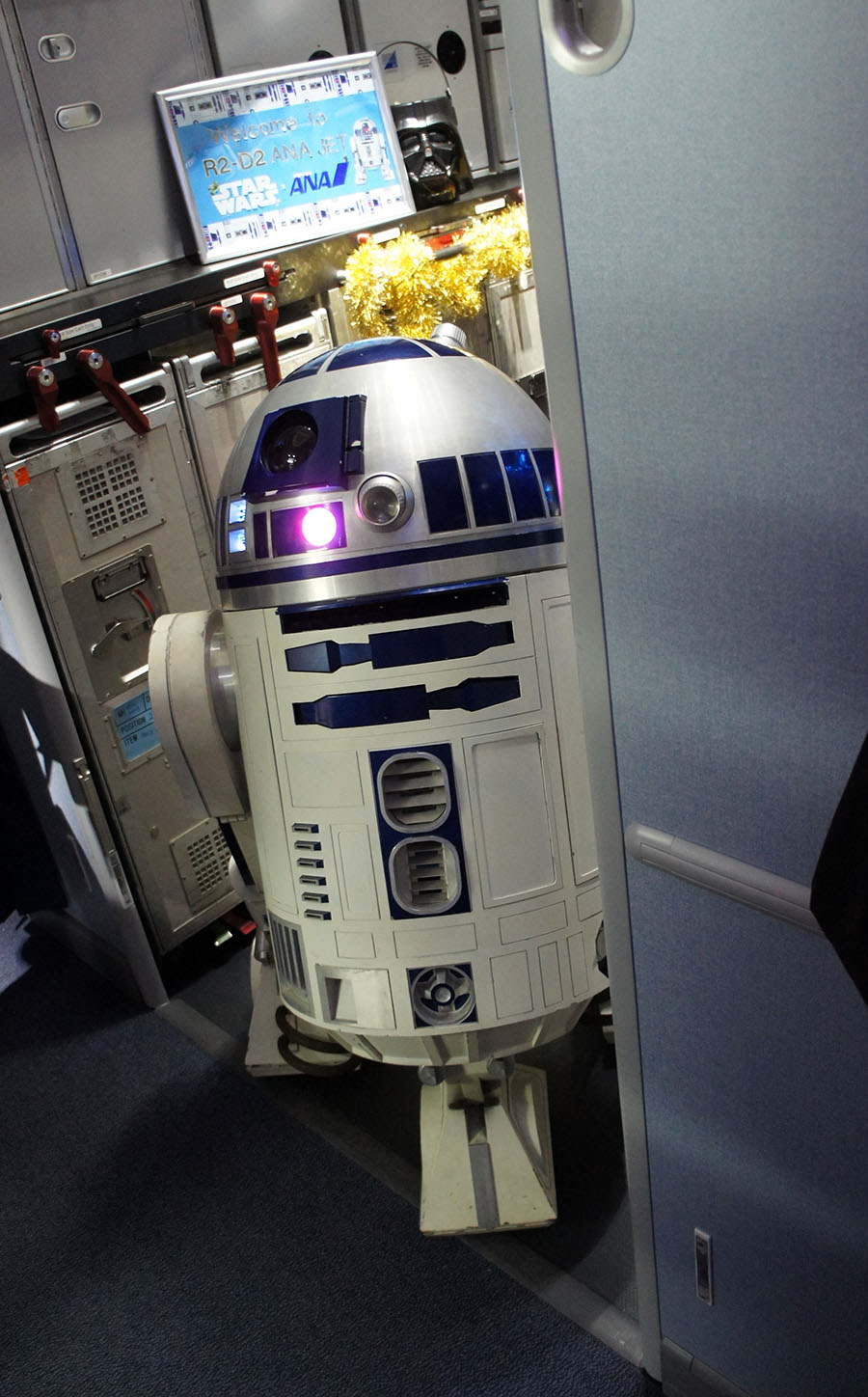 Impressive, R2 managed to squeeze on board.