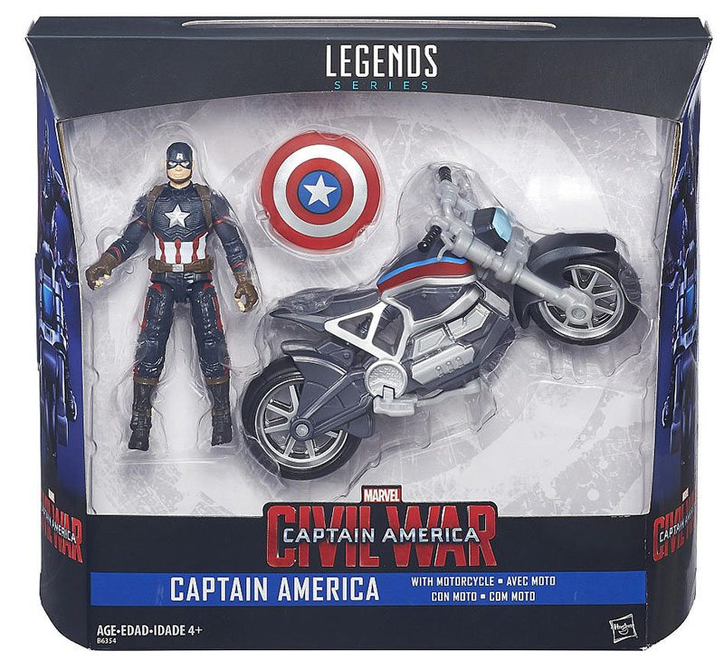 Marvel Legends Civil War Captain America with Motorcycle